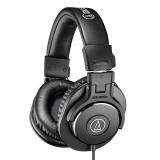 铁三角(Audio-technica)ATH-M30X 头戴式专业录音HIFI监听耳机 封闭式便携可折叠