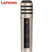 联想(Lenovo) UM10C手机麦克风 全民K歌主播快手抖音专用话筒 苹果安卓电容麦 音响电脑唱歌 升级版土豪金