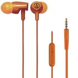 铁三角(Audio-technica)ATH-CLR100is OR 入耳式线控通话耳机 智能手机专用耳麦 橙色