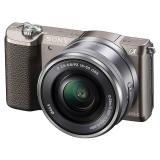索尼(SONY)ILCE-5100L APS-C单镜头微单相机 棕色(约2430万有效像素 16-50mm镜头 a5100L/α5100)