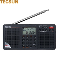 德生(Tecsun)PL-398MP插卡音响 3全波段数字调解立体声收音机 英语听力高考四六级 老人半导体(黑色)