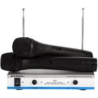 双诺 Z02 一拖二无线麦克风 无线手持话筒 双手麦 KTV 舞台无线话筒 专业K歌演出麦克风