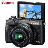 佳能(Canon)EOS M6 微单电可换镜相机(15-45镜头黑色套机)(2420万像素 触控翻转LCD 全像素双核对焦)