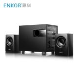恩科(ENKOR)E200PLUS 多媒体电脑笔记本音箱 2.1木质音响低音炮