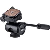 金钟(Velbon)PH-157Q 摄影摄像单把手云台 承重3kg 自重600g 防滑可拆卸快装板 360度水平旋转 可竖拍