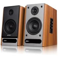奋达(F&D)R25BT 2.0多媒体书架有源音响 无线蓝牙 NFC 4英寸 全木质对箱 HIFI音箱