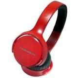 铁三角 (audio-technica) ATH-OX5 便携式头戴耳机 可拆式导线  适用于智能手机 可通话 红色