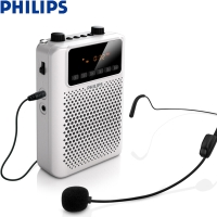 飛利浦(PHILIPS) SBM150 WHI 廣場級音效小音響 小蜜蜂擴音器 插卡音箱 播放器 REC錄音 FM收音 教學專用 白色