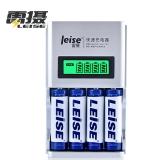 雷摄(LEISE)903A智能屏显快速充电器套装(配4节5号2700毫安充电电池+四槽充电器)KTV麦克风/玩具