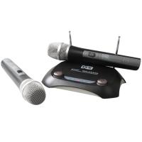 凯浮蛙(KFW) WK-V5200 无线麦克风电脑无线话筒 会议家用KTV无线话筒双手持一拖二麦克风