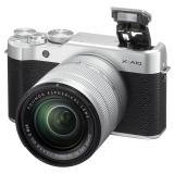 富士(FUJIFILM)X-A10 (XC 16-50II) 微单电套机 XA10 银黑色 小巧轻便 时尚复古