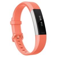 Fitbit Alta HR 智能时尚心率手环 自动运动识别 心率实时监测 自动睡眠记录 来电显示 VO2Max测量 珊瑚红L