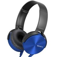 索尼(SONY)MDR-XB450AP 重低音 立体声耳机 蓝色