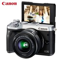佳能(Canon)EOS M6 微单电可换镜相机(15-45镜头银色套机)(2420万像素 触控翻转LCD 全像素双核对焦)