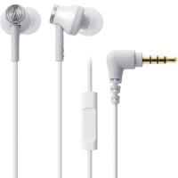 铁三角 (audio-technica) ATH-CK330iS WH 智能型手机专用耳塞式通话耳机 白色