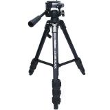 金钟(Velbon)CX-888三脚架 承重2kg TY脚管 绞齿中轴 单把手云台 微单单反摄像机均可使用 标配原装脚架包