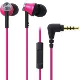 铁三角 (audio-technica) ATH-CK330iS PK 智能型手机专用耳塞式通话耳机 粉色