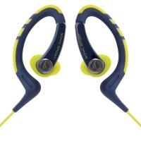 铁三角(Audio-technica)ATH-SPORT1 防水运动型手机挂耳式耳塞 海军黄