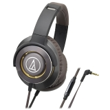 铁三角(Audio-technica)ATH-WS770iS 便携式智能手机耳麦 金棕