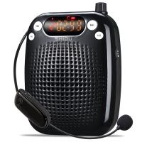 十度(ShiDu)SD-S611 UHF 1秒自动配对 无线便携扩音器 小蜜蜂教师导游专用教学腰挂 大功率喊话器 小音箱 经典黑