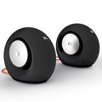 JBL Pebbles 升级版 音乐蜗牛 电脑小音箱/音响 PC音响 USB供电 低音炮 2.0音响 黑色