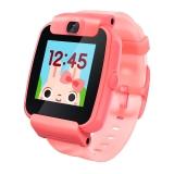 搜狗糖猫(teemo)儿童智能电话手表 color GPS定位 防丢防水 彩屏摄像 视频 活力红