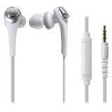铁三角(Audio-technica)ATH-CKS550IS 重低音 手机通话入耳式耳机 白色