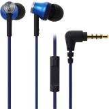 铁三角 (audio-technica) ATH-CK330iS BL 智能型手机专用耳塞式通话耳机 蓝色