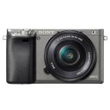 索尼(SONY)ILCE-6000L APS-C单镜头微单相机 石墨灰(约2430万有效像素 16-50mm镜头 a6000L/α6000)