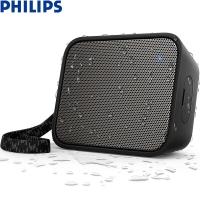 飞利浦(PHILIPS)BT110B 音乐魔盒 蓝牙音箱 防水便携迷你音响 手机/电脑外响 低音炮 户外运动 免提通话 黑色