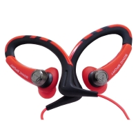 铁三角(Audio-technica)ATH-SPORT1 防水运动型手机挂耳式耳塞 红色