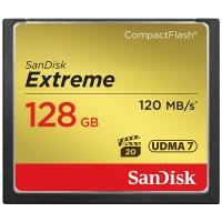 闪迪(SanDisk)128GB 读速120MB/s 写速85MB/s 至尊极速CompactFlash存储卡 UDMA7 CF卡