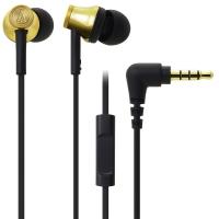 铁三角 (audio-technica) ATH-CK330iS GD 智能型手机专用耳塞式通话耳机 金色