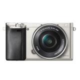 索尼(SONY)ILCE-6000L APS-C单镜头微单相机 银色(约2430万有效像素 16-50mm镜头 a6000L/α6000)