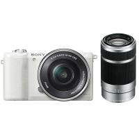 索尼(SONY)ILCE-5100Y APS-C双镜头微单相机 白色(约2430万有效像素 16-50/55-210mm镜头 a5100L/α5100)