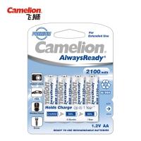 飞狮(Camelion)低自放镍氢充电电池高容量 5号/五号/AA 2100毫安时4节 鼠标/麦克风/玩具/剃须刀