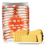 阿尔发 无糖食品 纤缘饼干 奶香味 早餐饼干糕点 休闲零食420g/袋