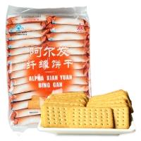 阿爾發 無糖食品 纖緣餅干 奶香味 早餐餅干糕點 休閑零食420g/袋