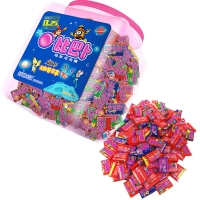 比巴卜 经典系列混合瓶装超软泡泡糖150粒水果糖 儿童用糖休闲零食送礼佳品(新老包装交替发货)
