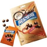 阿尔卑斯巧悦脆夹心巧克力球(牛奶巧克力)96克牛奶糖 休闲零食 年货送礼新年新春糖果礼品