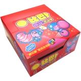 比巴卜棉花糖泡泡糖草莓味11g/袋*12水果糖 儿童用糖休闲零食