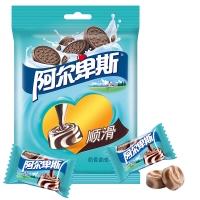 阿尔卑斯奶香曲奇味牛奶硬糖袋150g牛奶糖 休闲零食(新老包装交替发货)