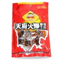 四川特产 休闲零食 棒棒娃天府火爆麻辣牛肉干98g(新老包装随机发放)