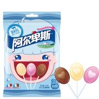 阿尔卑斯 心形混合口味奶糖棒棒糖20支装120克牛奶糖 休闲零食(新老包装交替发货)