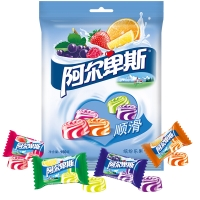 阿尔卑斯缤纷果园牛奶硬糖150克 休闲零食(新老包装交替发货)