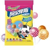阿尔卑斯 精选多种口味硬糖棒棒糖(20支装)200克牛奶糖 儿童用糖 休闲零食(新老包装交替发货)