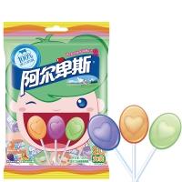 阿尔卑斯 混合硬糖棒棒糖水果酸奶味20支装120克酸奶糖 儿童用糖休闲零食(新老包装交替发货)