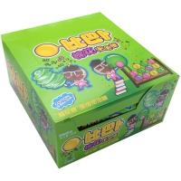 比巴卜棉花糖泡泡糖青苹果味11g/袋*12水果糖 儿童用糖休闲零食