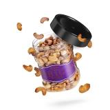 ileven 坚果炒货 休闲食品 紫皮腰果 烘焙腰果300g/罐