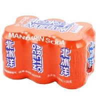 北冰洋 桔汁味 碳酸饮料 330ml*6听 箱装